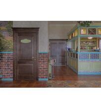 двери в кафе из массива дуба