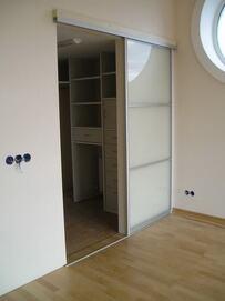 Двери-купе для гардеробной (с нижней направляющей) #0