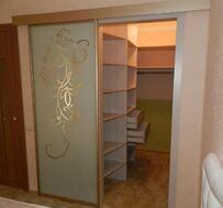 Двери-купе для гардеробной (подвесные, без нижней направляющей) #0